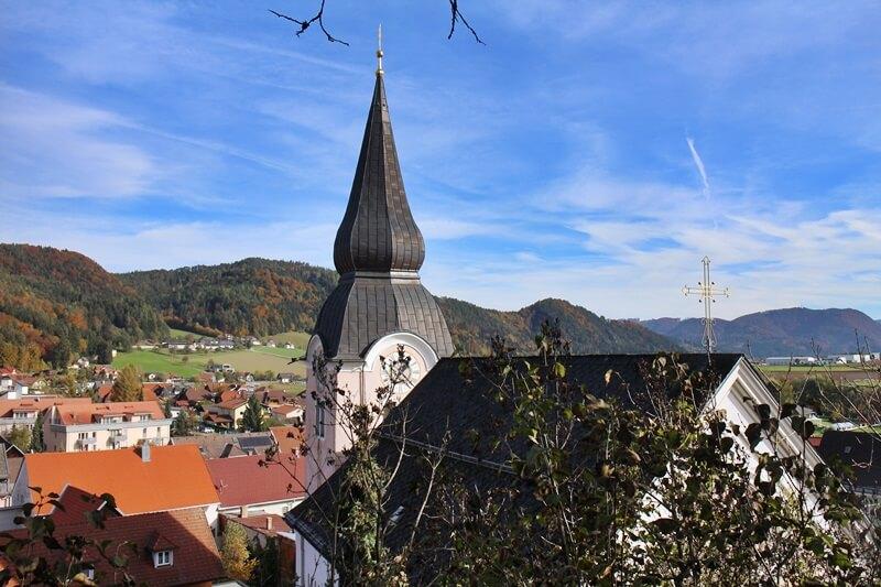 Griffen Diex Genuss-mit-fernweh.de Ausblick Kirchturm vom Schlossberg