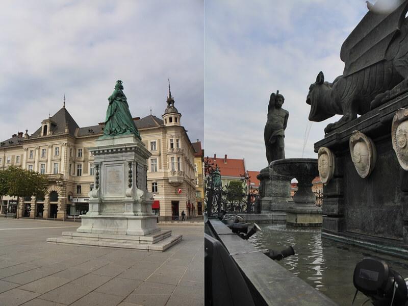 Must See Spots Klagenfurt Genuss-mit-fernweh.de Daniela Reh Neuer Platz Lindwurm Brunnen Maria Theresia Denkmal