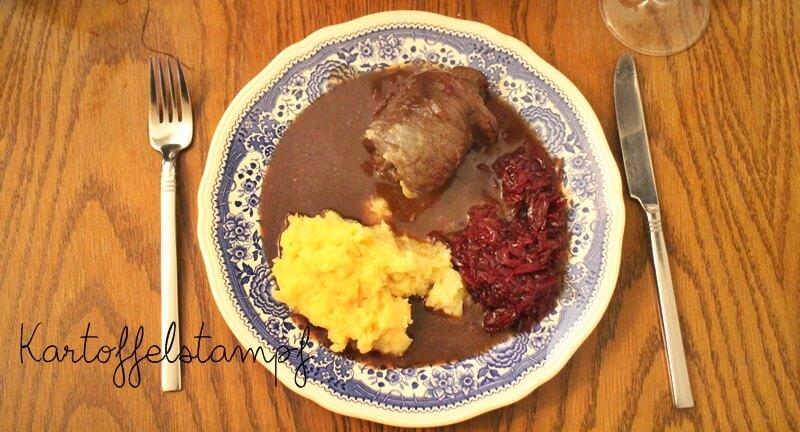 Kartoffelstampf Kartoffelpüree mit Rotweinrouladen Genuss-mit-fernweh.de