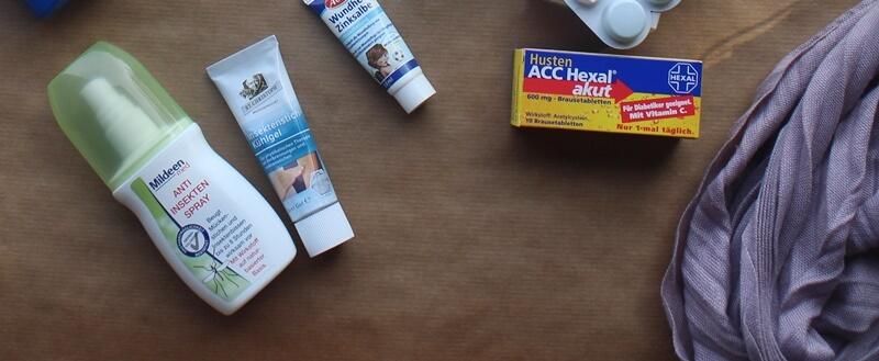 kleine Helferlein auf Reisen Genuss-mit-fernweh.de Medikamente Hautschutz Husten