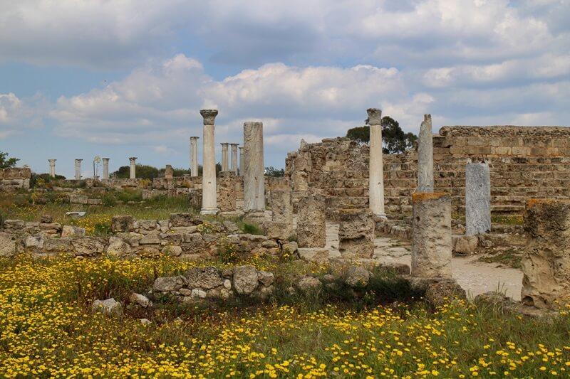 Salamis Ausgrabungen Zypern Nordzypern Reisebericht Reiseblog Genuss-mit-fernweh.de Säulen
