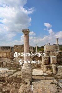 Salamis Ausgrabungen Zypern Nordzypern Reisebericht Reiseblog Genuss-mit-fernweh.de Säule