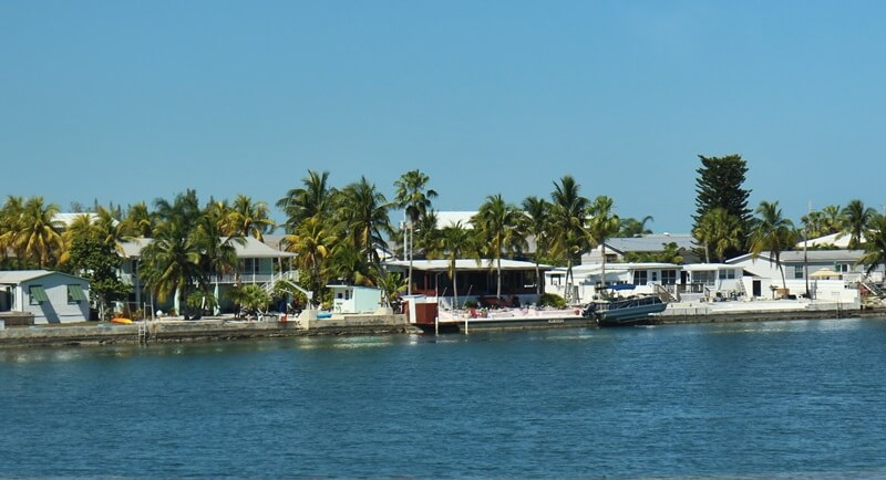 Florida Keys U.S. Highway 1 von Miami bis nach Key West Reisebericht Genuss-mit-fernweh.de Keys Häuser am Wasser
