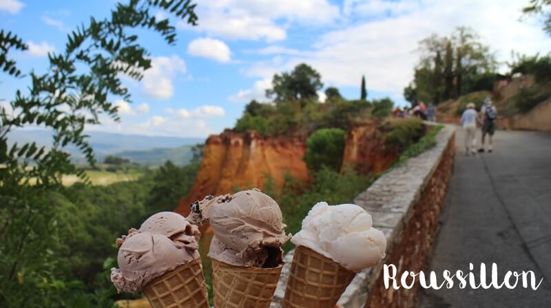 Fooddiary Provence Foodspots Reiseguide Where to eat? Genuss-mit-fernweh.de Eis in Roussillon