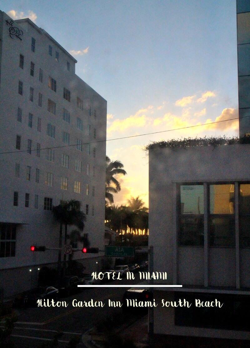 Hilton Garden Inn Miami South Beach Blick aus dem Zimmer Strand in Reichweite
