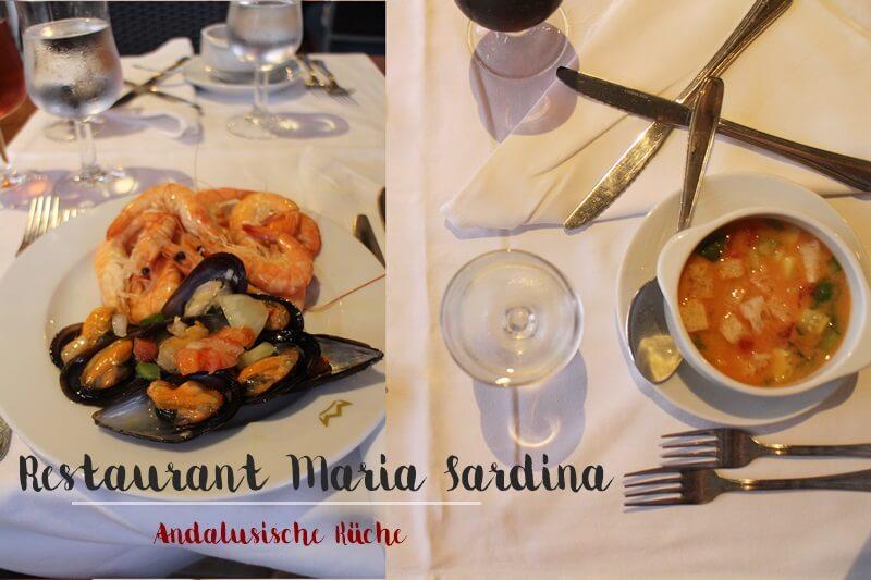 Clubhotel Riu Costa del Sol Cluburlaub Torremolinos, Andalusien Spanien Hotelreview Restaurant Maria Sardina Andalusische Küche