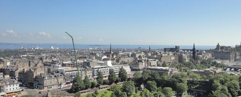 Schottland Inspirationen Reiseblog Genuss-mit-fernweh.de Edinburgh von oben