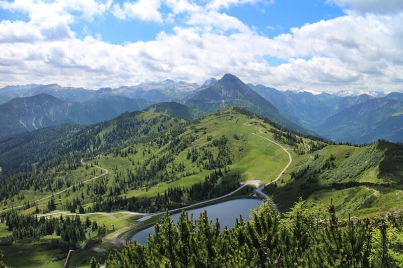Griessenkareck Wanderung Flachau Wagrain Genuss-mit-fernweh.de Wanderstrecke Urlaub in den Bergen Bergsee Stausee
