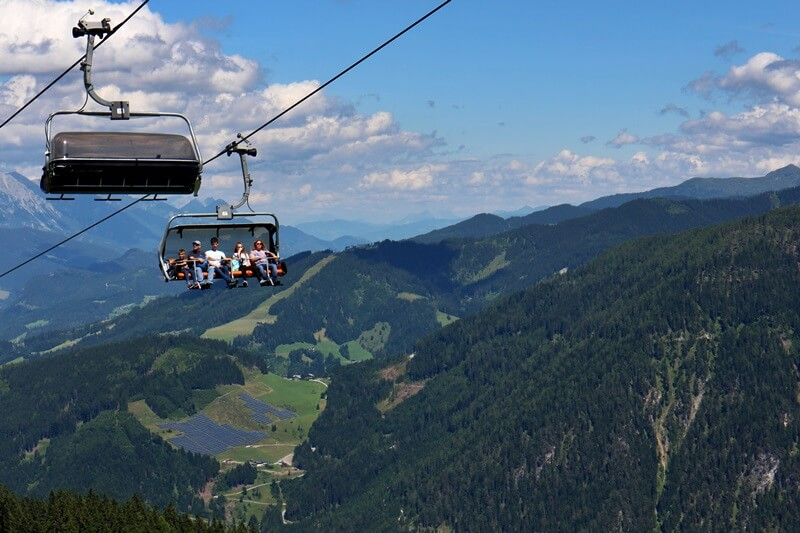 Griessenkareck Wanderung Flachau Wagrain Genuss-mit-fernweh.de Wanderstrecke Urlaub in den Bergen Starjet Gondel Lift